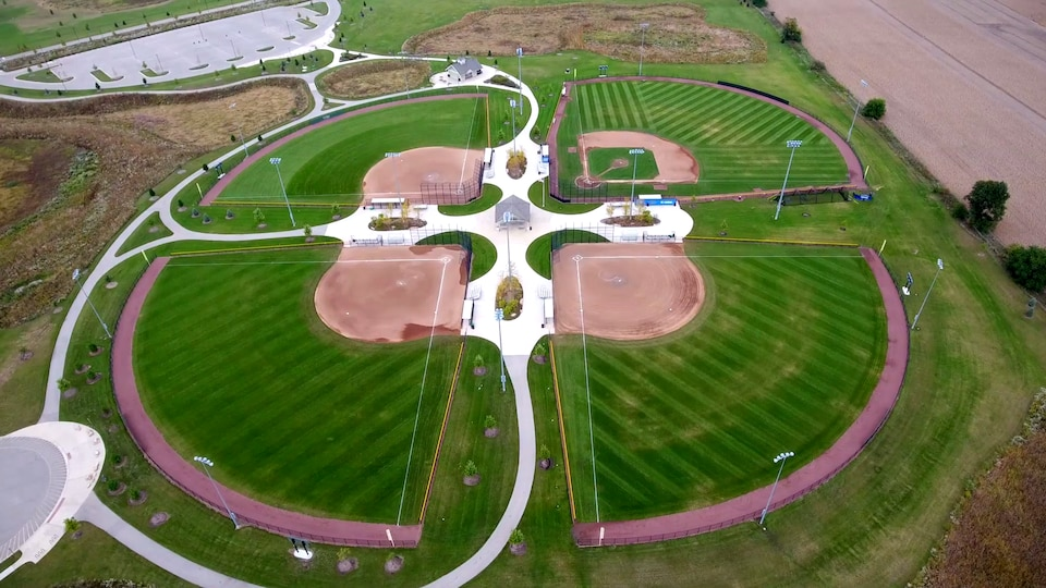 Châteauguay s'inspire d'un complexe de baseball comme celui-ci, à Aurora, aux États-Unis.