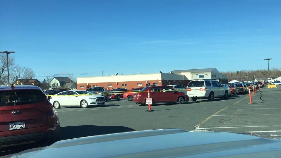Des files de voitures pour le vaccin AstraZeneca à Bathurst.