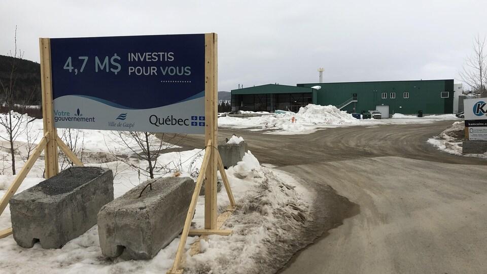 Le nouveau garage municipal de la Ville de Gaspé sera aménagé dans l'ex-scierie du Groupe GDS.