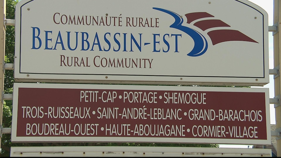 L'affiche d'accueil de la communauté rurale de Beaubassin-est.
