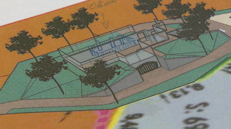 La Municipalité veut intégrer les ruines de l'ancienne chambre à munitions à un parc pour enfants.