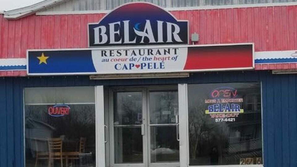 La façade du restaurant Bel Air