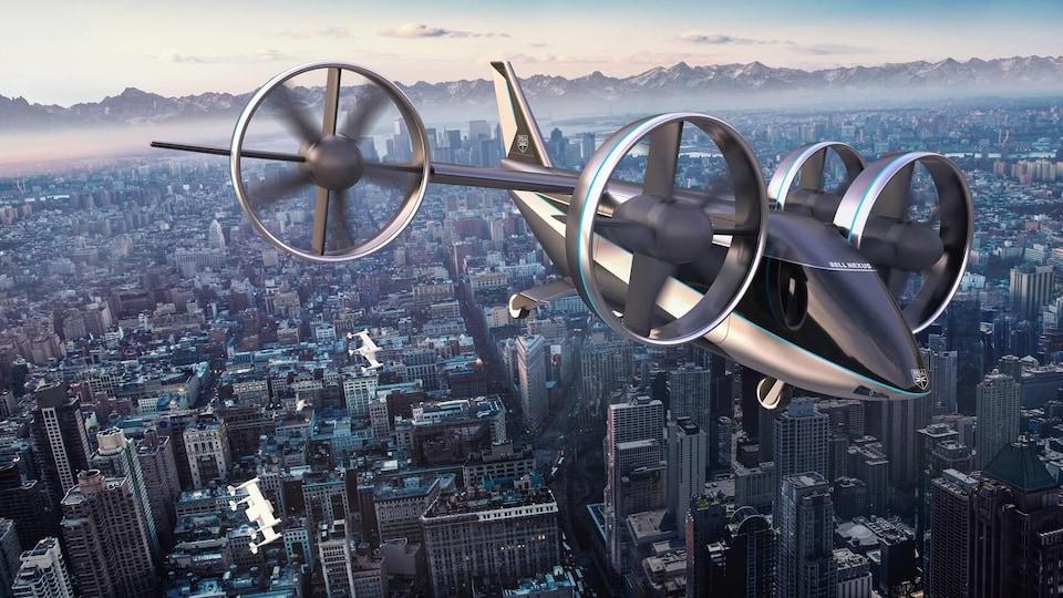Reproduction du concept de taxi volant de Bell, le Bell Nexus 4ex.