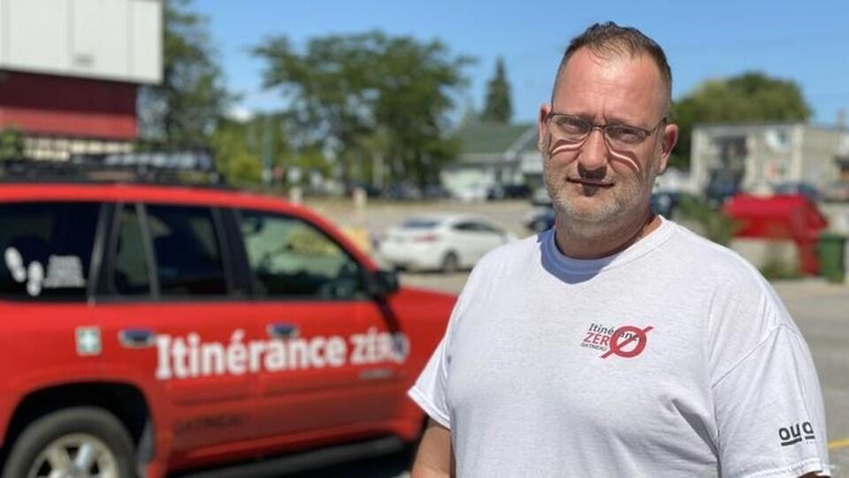 Benoit Leblanc le fondateur et directeur d'Itinérance zéro.
