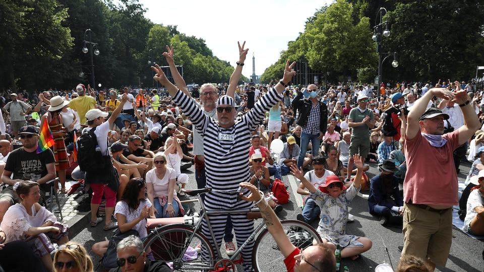 Une manifestation à Berlin.