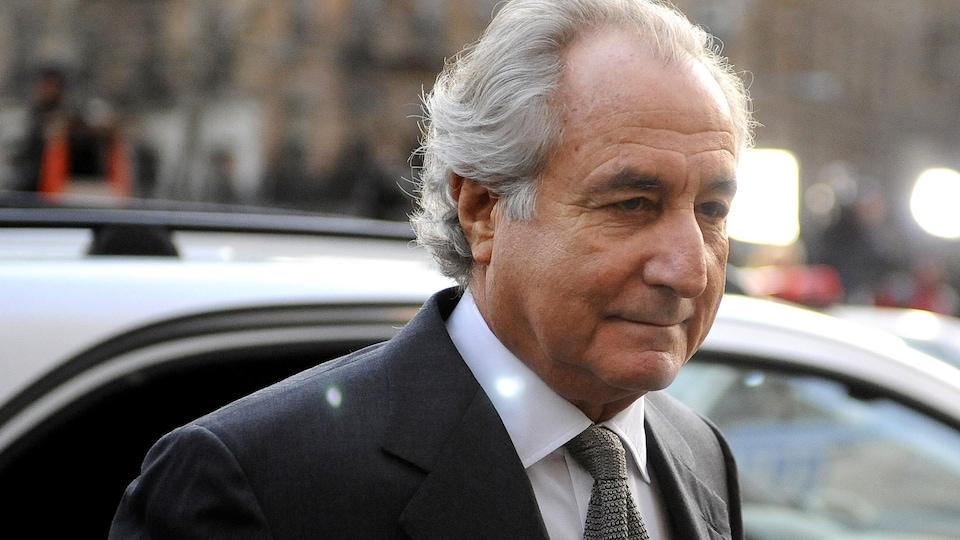 Plan rapproché de Bernard Madoff.