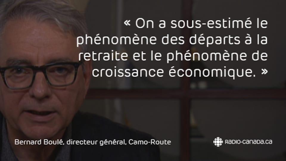 Bernard Boulé, directeur général de Camo-Route.