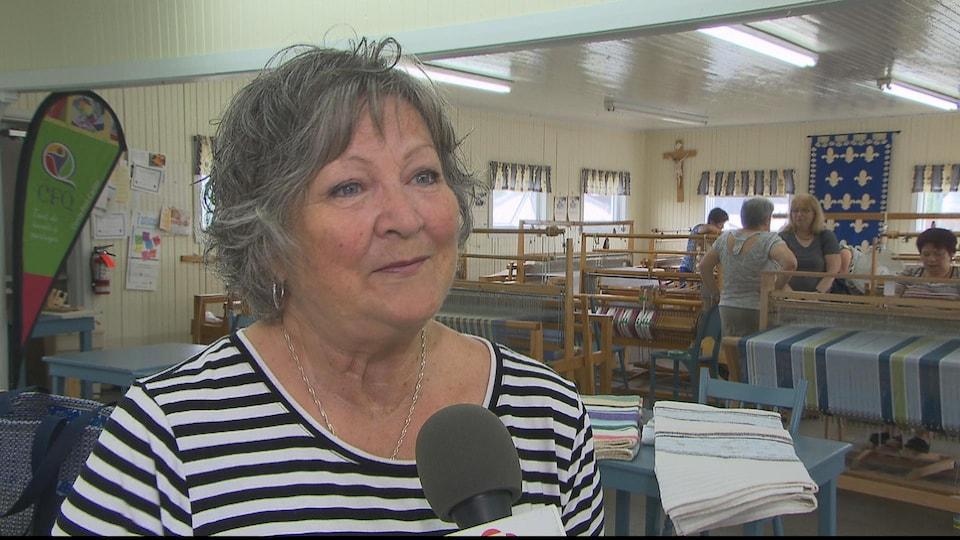 Berthe Jacques est membre du Cercle des fermières de Port-Cartier
