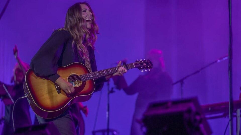 Amélie Beyries, en concert.