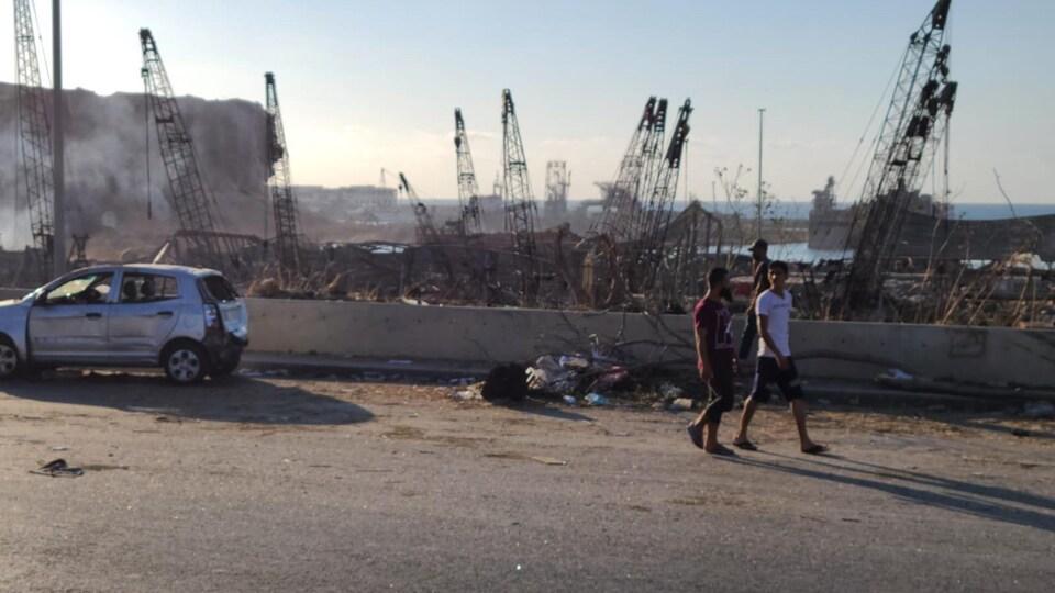 Le centre-ville de Beyrouth est dévasté.
