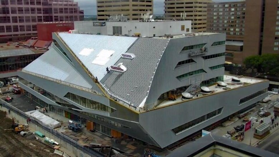 Une vue de la bibliothèque d'Edmonton.
