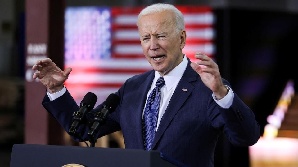 Le président américain Joe Biden à Pittsburgh, en Pennsylvanie.
