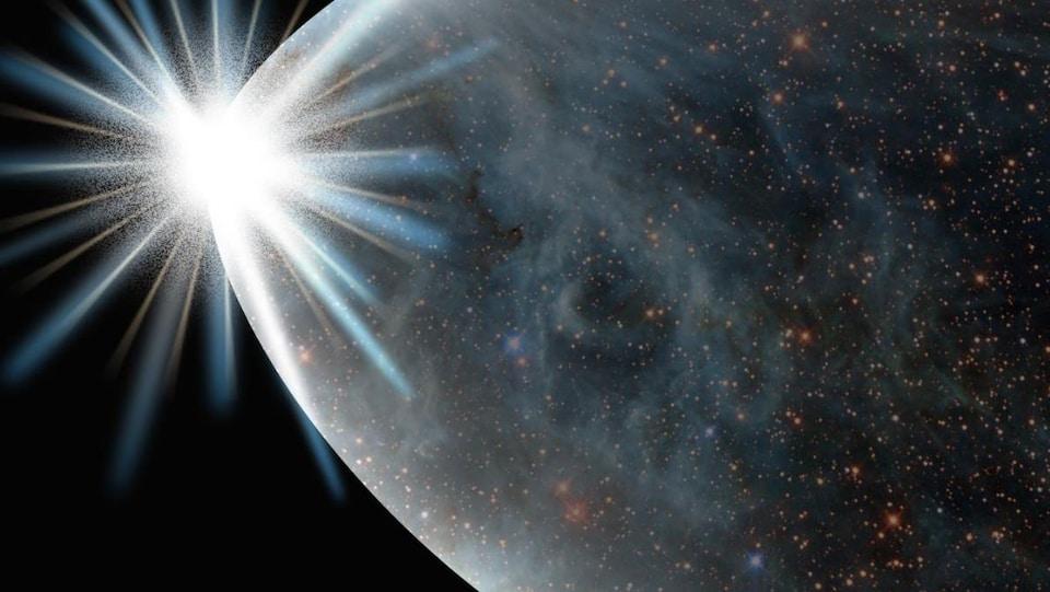 Illustration artistique du big bang.