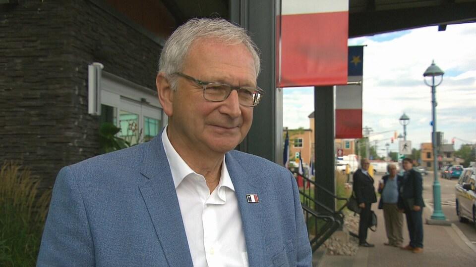 Le premier ministre du Nouveau-Brunswick, Blaine Higgs, en entrevue.