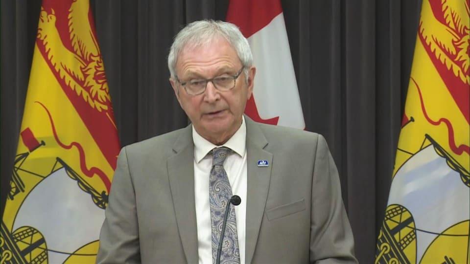 Le premier ministre Blaine Higgs, le 28 mai 2020.