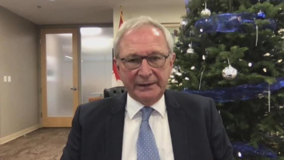 Blaine Higgs, premier ministre du Nouveau-Brunswick, le 22 décembre 2020.