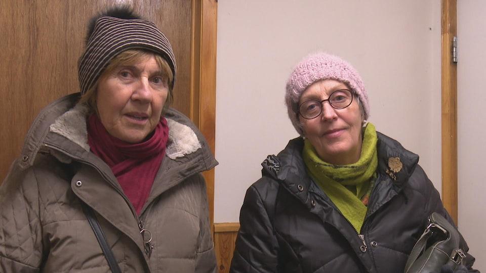Louise Blanchard et Gina Girard en entrevue