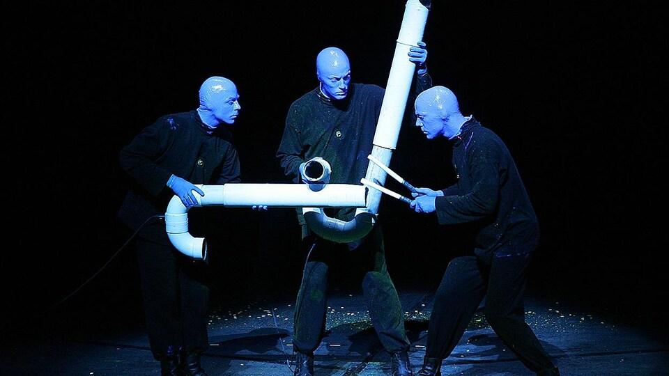 Le groupe artistique Blue Man Group
