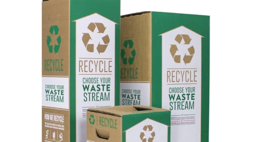 Des boîtes de recyclage de la compagnie TerraCycle.