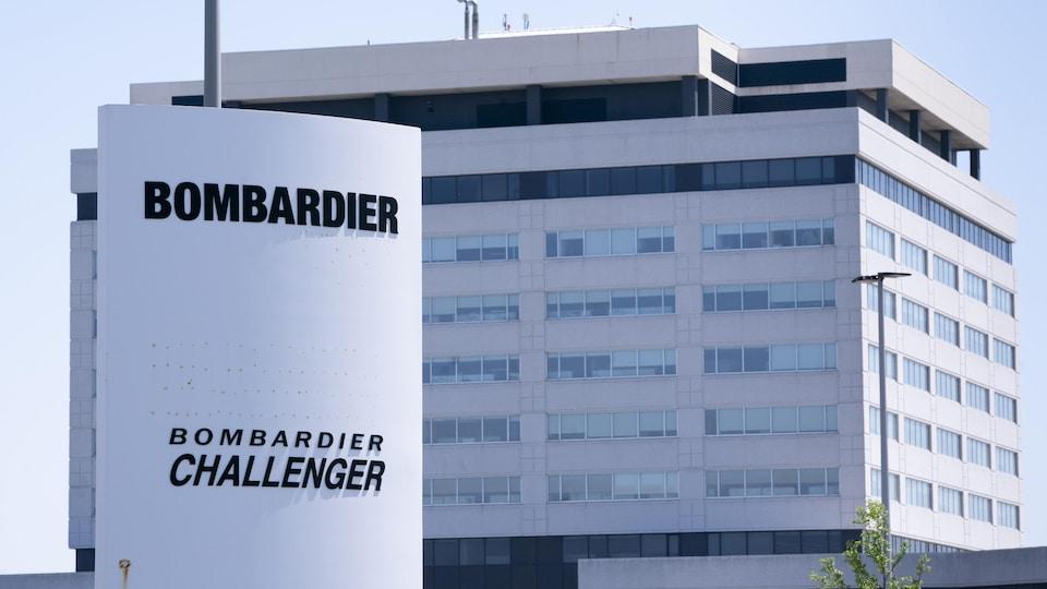 Une usine de Bombardier située à Montréal.