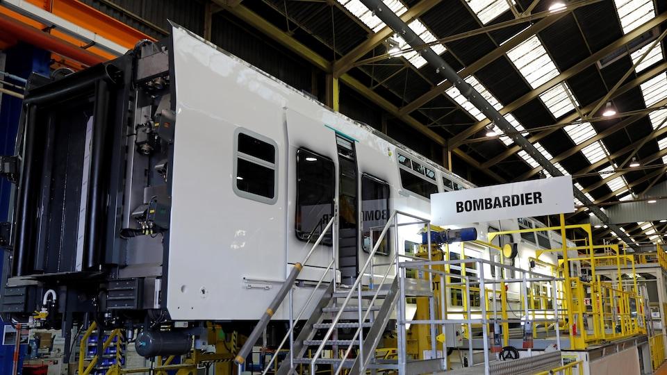 Une usine de Bombardier Transport en France.