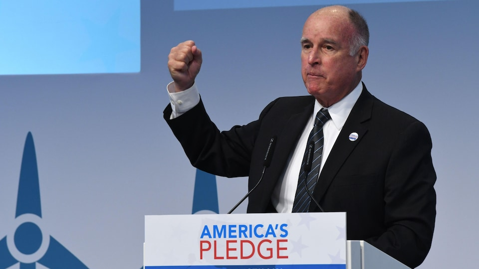 Le gouverneur de la Californie, Jerry Brown, à la COP23.