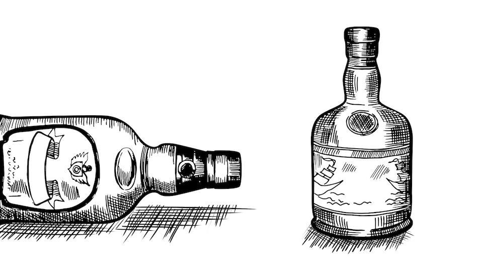 Illustration de deux bouteilles