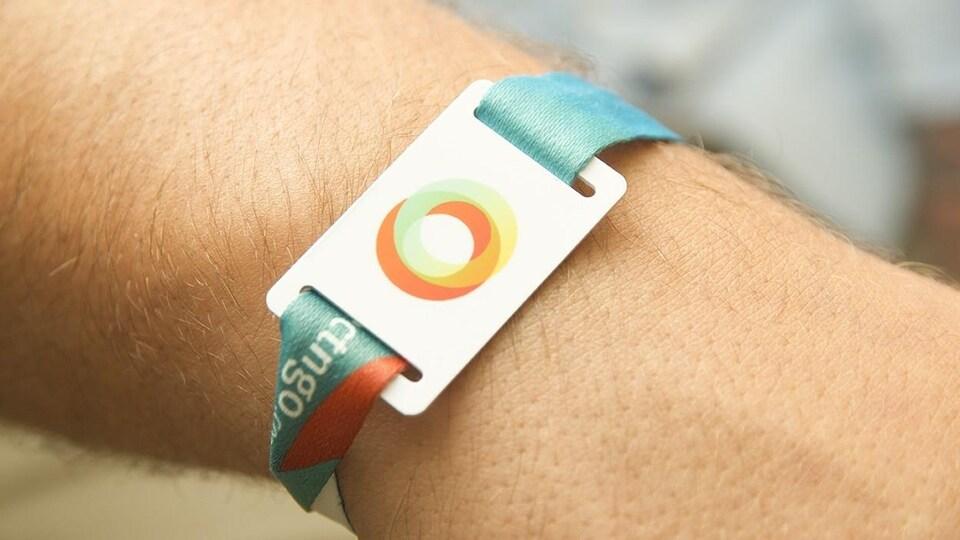 L'un des bracelets conçus par la compagnie Connect & Go.