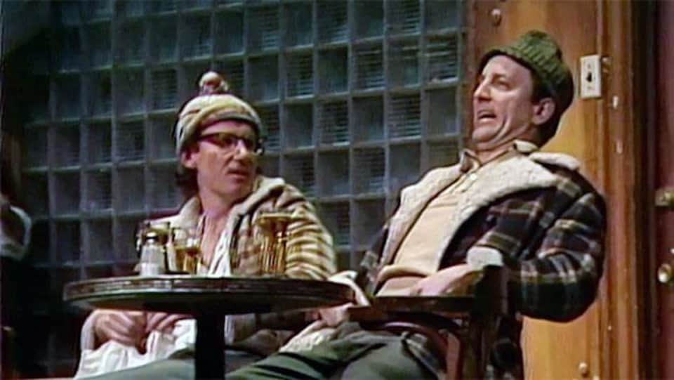 Marc Messier et Michel Côté dans la pièce «Broue»
