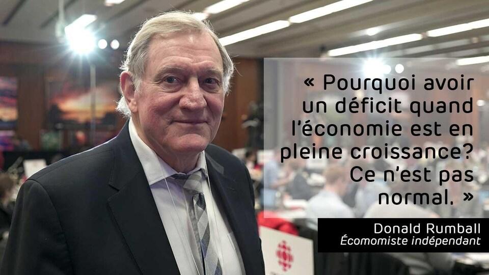 «Pourquoi avoir un déficit quand l'économie est en pleine croissance? Ce n'est pas normal.»