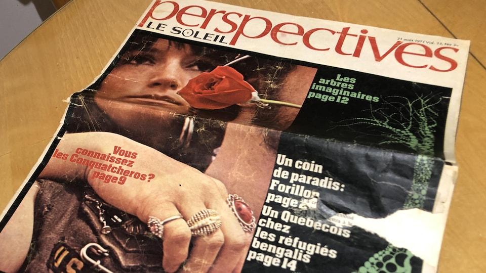 Cahier perspectives publié par Le Soleil en 1970