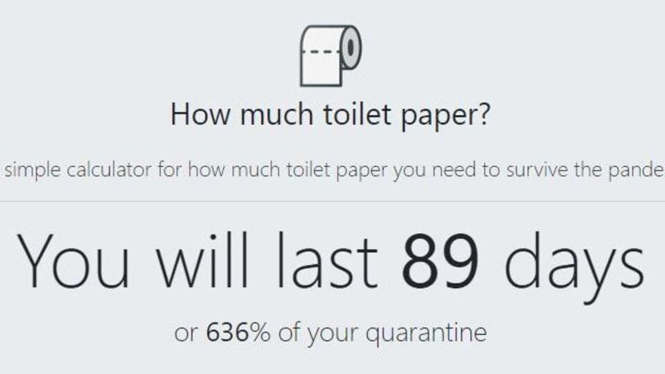 Un rouleau de papier toilette et du texte en anglais.