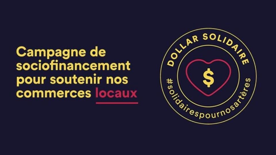 Logo de l'initiative « Dollars solidaires »