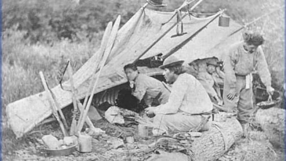 Un campement autochtone