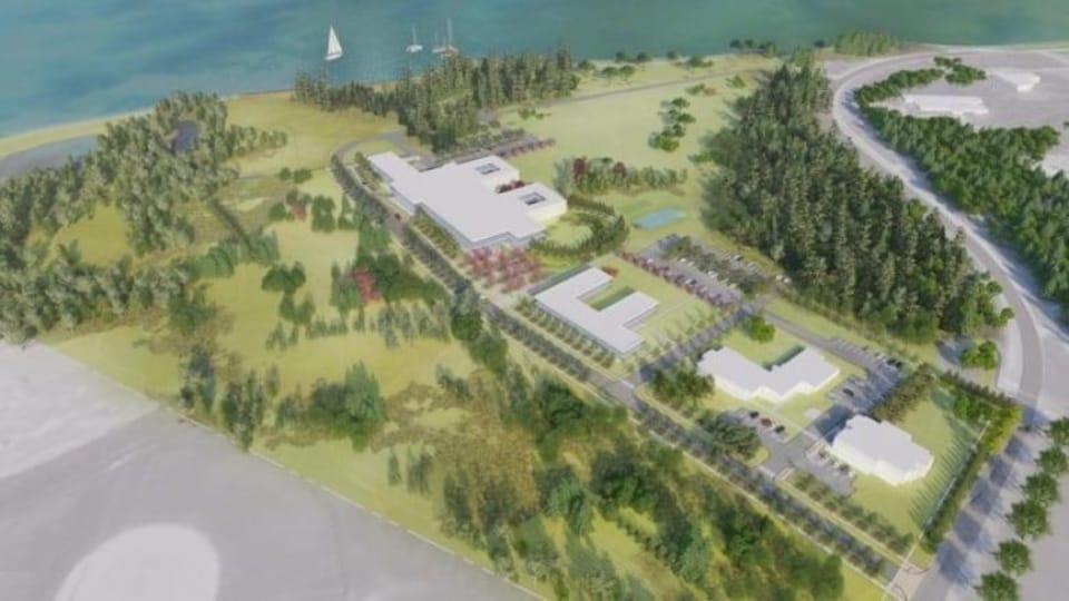 Le plan du nouveau campus de santé mentale et de toxicomanie développé par l'entreprise Studios Fathom.