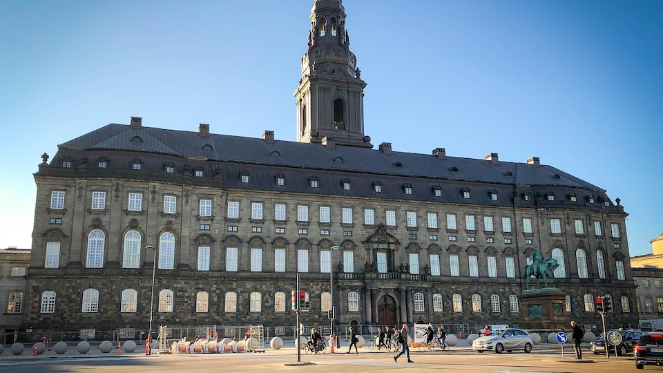 Le parlement danois à Copenhague.
