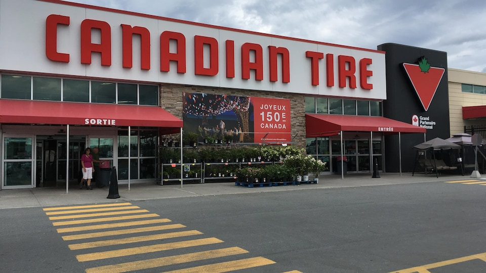 Le magasin Canadian Tire de Val-d'Or.