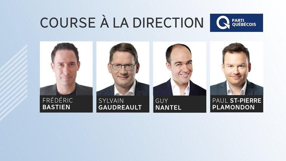 De gauche à droite : Frédéric Bastien, Sylvain Gaudreault, Guy Nantel et Paul St-Pierre Plamondon.