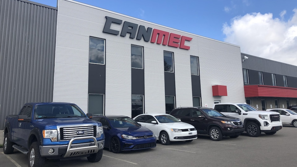 La façade de l'entreprise Canmec de Chicoutimi