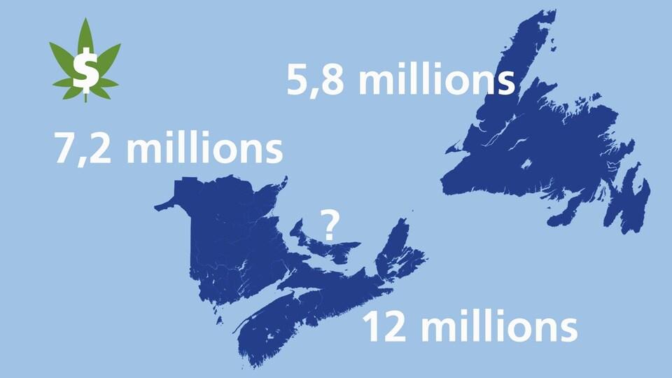 Une Carte Affiche Les Revenus Potentiels Gnrs Par Le Cannabis Selon Provinces