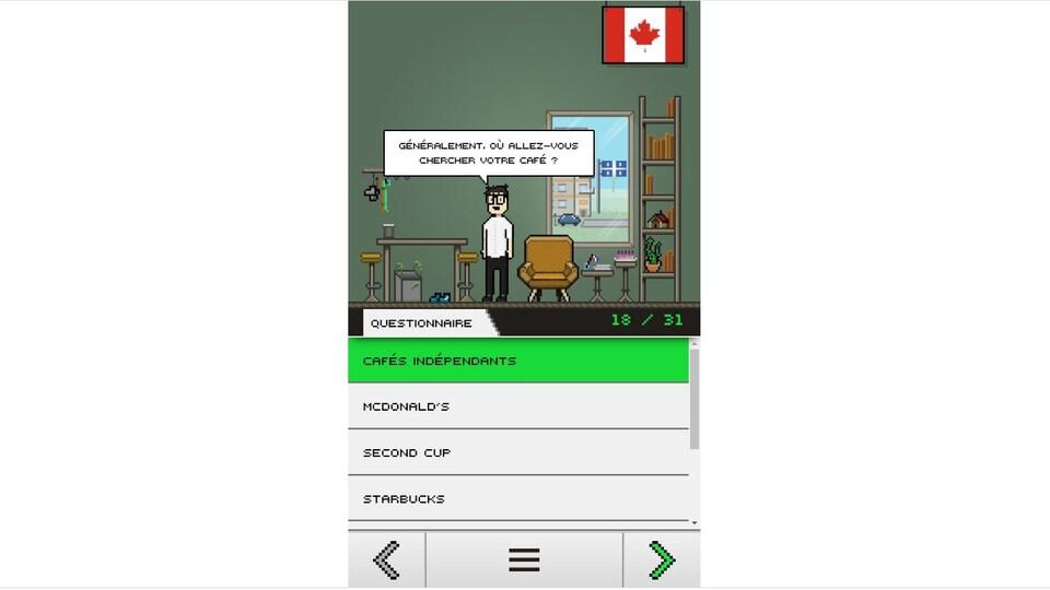 Une capture d'écran de Datagotchi.
