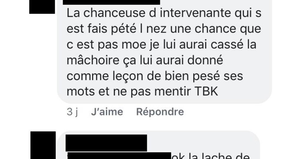 Les commentaires se multiplient sous les publications dans le groupe Facebook «Assez de la DPJ».