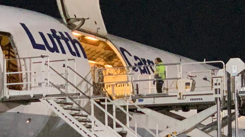 Un avion-cargo de la compagnie Lufthansa.