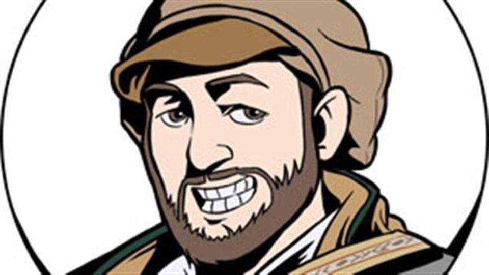 Caricature de TiBert le voyageur