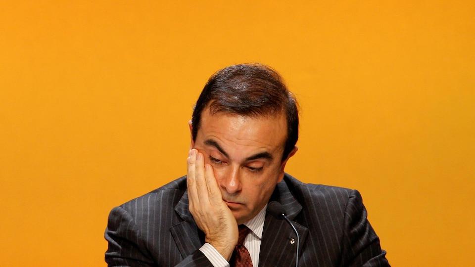 Portrait de Carlos Ghosn.