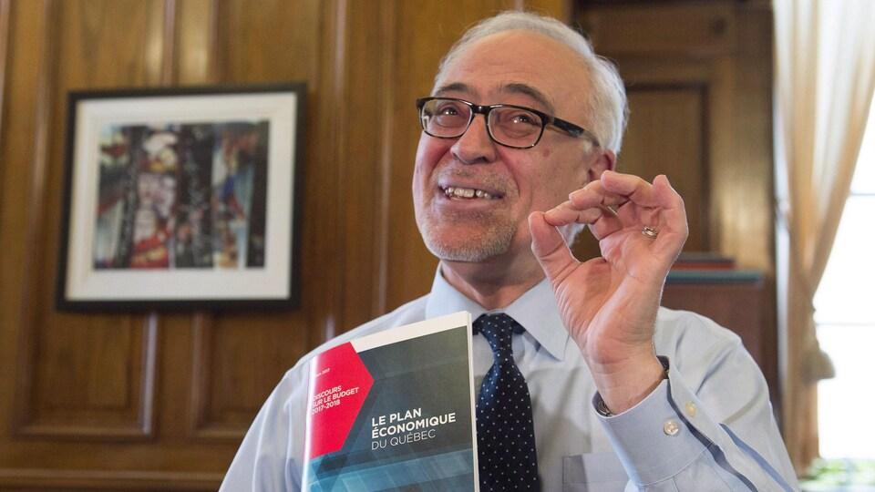 Le ministre des Finances du Québec, Carlos Leitao, à la veille du dépôt du budget du Québec 2017-2018