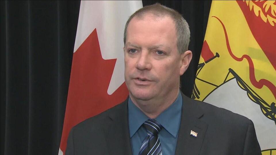Le ministre de l'Environnement et des Gouvernements locaux du Nouveau-Brunswick, Jeff Carr.