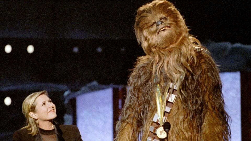 Carrie Fisher lors d'une remise de prix aux États-Unis
