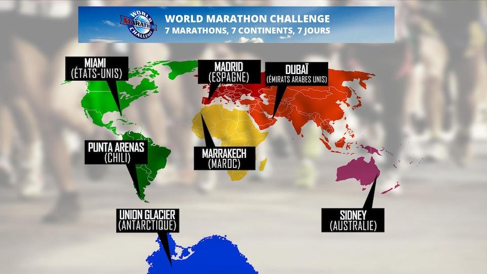 Le défi World Marathon Challenge 2017.