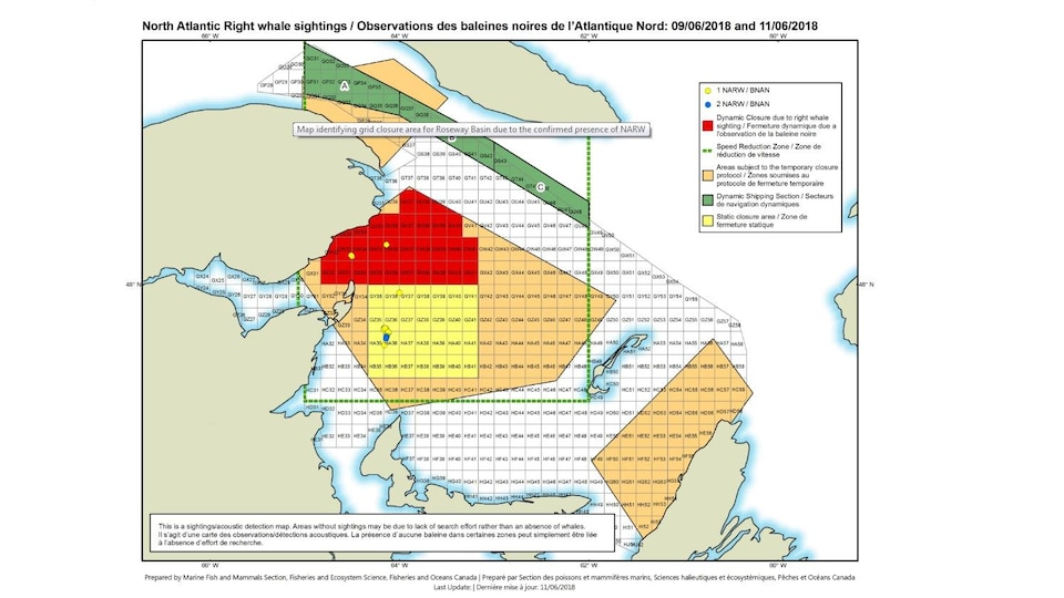 Carte des zones temporaires fermées (en rouge)